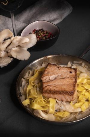 zalm + pasta